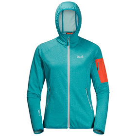 Jack Wolfskin Milford Hooded Jacket Women, aquamarine